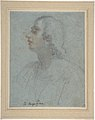 Bust of a Youth Looking to Upper Left (recto); Study of Drapery (verso) MET DP809495.jpg