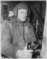 CLAD IN HIS ARMOR. Normally a good-sized man, Captain Melvin E. Jarvis, 1318 Roberta Street, Salt Lake City, Utah... - NARA - 542352.tif