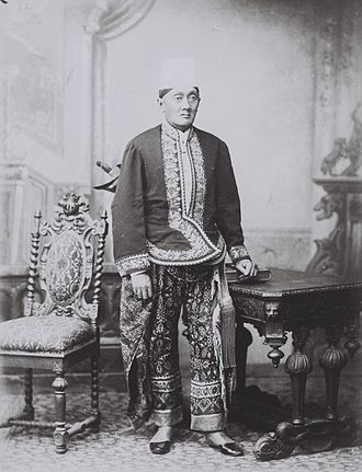 Regency (Indonesia) - Portrait of a Javanese regent in gala uniform (circa 1900).