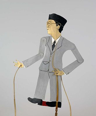 Mohammad Hatta - Hatta depicted in a contemporary Wayang Kulit puppet.