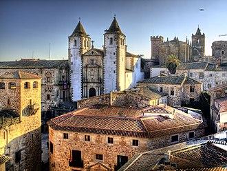 Cáceres, Spain - San Francisco Javier Church.