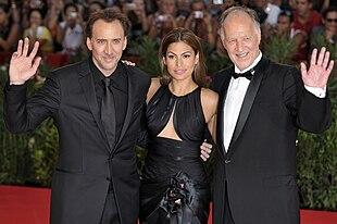 Nicolas Cage, Eva Mendes e Werner Herzog sul red carpet della 66ª Mostra internazionale d'arte cinematografica di Venezia