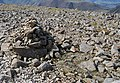 Cairn amongst a boulderfield on Scafell Pike - geograph.org.uk - 1519808.jpg