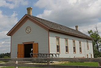 Old World Wisconsin - Image: Caldwell Farmers Club Hall Old World Wisconsin
