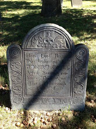 Robert Calef - Grave of Robert Calef in Roxbury