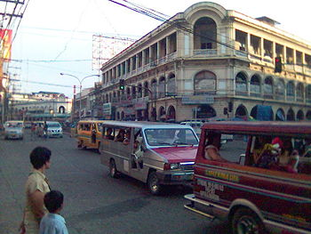 The Old Calle Real (JM Basa Street) in downtown Iloilo City, planned as a heritage site