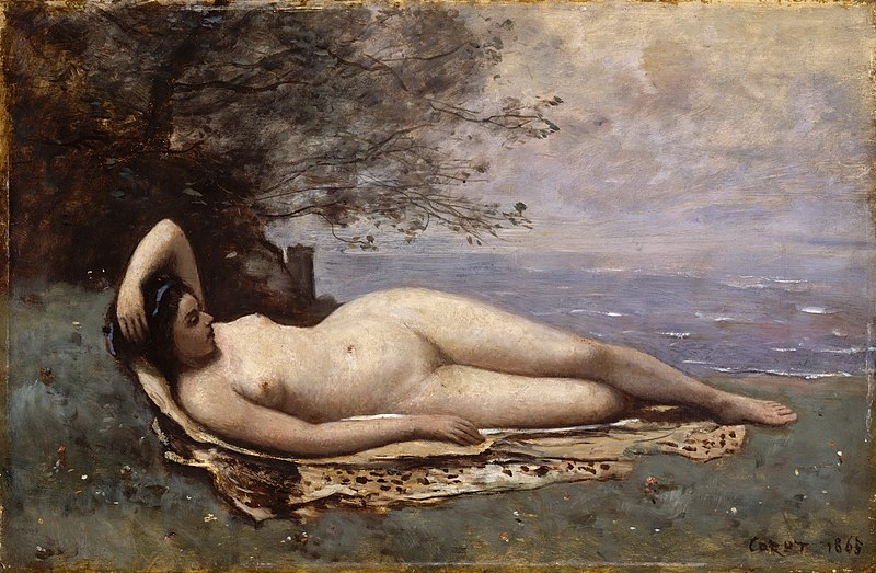 File:Camille Corot - Bacchante by the Sea - 1865.jpg