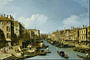 Каналетто - Большой канал возле моста Риальто, Венеция - Google Art Project.jpg