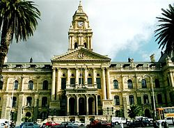 The Cape Town City Hall, located in the City Bowl