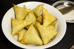 Cape Malays - Cape Malay samosas, a Cape Malay traditional dish that witnessed a South Asian influence. The Indian influence in the Cape Malay culture is essential due to generations of widespread intermarriage and union between the two communities.