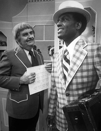 Captain Kangaroo - Captain Kangaroo (Bob Keeshan), left, with Nipsey Russell, 1976