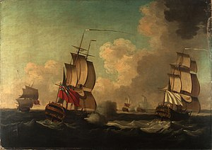 Action of 8 June 1755 - Image: Capture Of Alcide And Lys