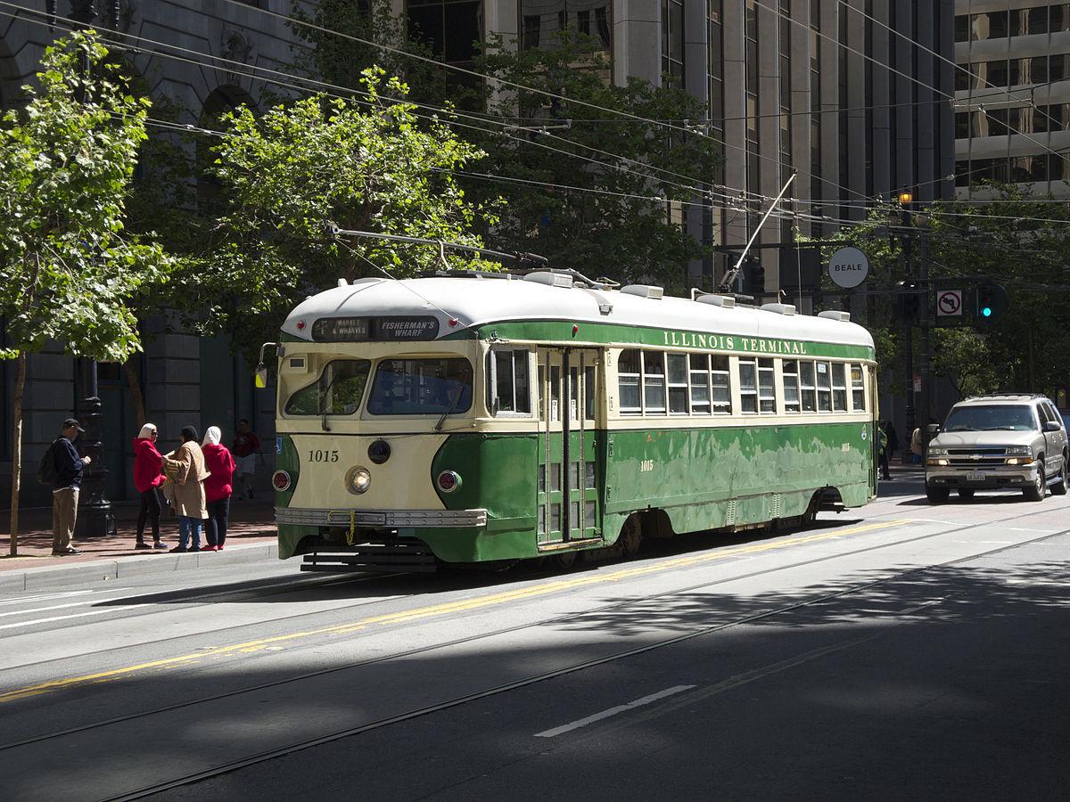 Trolley Cars San Francisco Map.F Market Wharves Wikipedia