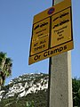 Car clamping sign, Corral Road, Gibraltar.jpg