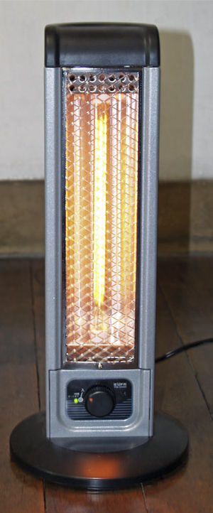 Electric heating - An electric radiative space heater