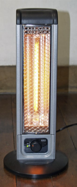 Infrared heater - A household infrared electric heater