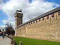 Cardiff Castle Walls and Clock Tower - geograph.org.uk - 147527.jpg