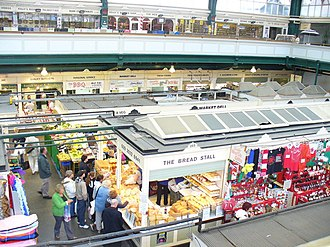 Cardiff Market - Inside Cardiff Market from the 1st floor