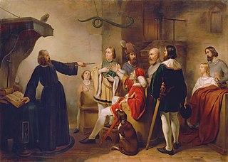 Ein Astrologe weissagt Rudolf von Habsburg