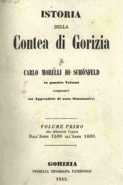 File:Carlo Morelli di Schönfeld - Istoria della Contea di Gorizia - book 1.pdf