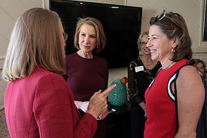 Carly Fiorina presidential campaign, 2016 - The candidate meeting with supporters at a coffee reception and fundraising event in Paradise Valley, Arizona.
