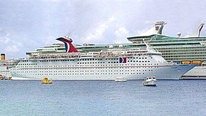 MS Magellan - Image: Carnival Holiday docked in Cozumel 03 2004