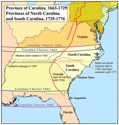 Carolina on Province Of North Carolina   Wikipedia  The Free Encyclopedia