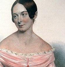 Caroline Unger, nach einer Lithographie von Joseph Kriehuber, 1839 (Ausschnitt) (Quelle: Wikimedia)