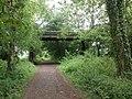 Cast iron bridge, over the abandoned Tiverton branch - geograph.org.uk - 1886085.jpg