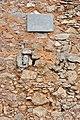 Castillo Torre de Yunquera, provincia de Málaga. Detalle de su muro y placa conmemorativa.jpg