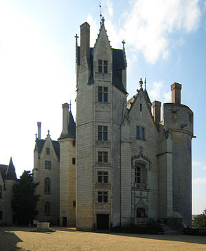 Castle Montreuil-Bellay, located in the villag...