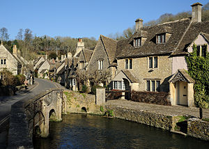 Cotswolds - Castle Combe, a typical Cotswolds village made with Cotswold stone
