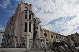 Cathedral of Our Lady of the Assumption, Port-au-Prince - The Cathedral after the 12 January 2010 earthquake