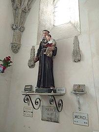 Cathédrale Saint-Étienne de Cahors - Statue Saint Antoine (mai 2018).jpg