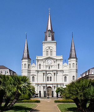 The Cathedral Basilica of Saint Louis serves a...
