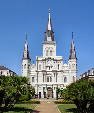 Louisiana (New Spain) - St. Louis (San Luis) Cathedral, on the former Plaza de Armas