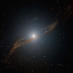 This image of the central parts of Centaurus A...