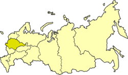 Central Economic Region on the map of Russia