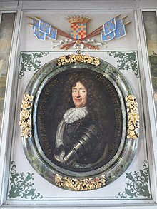 Portrait de Roger de Bussy-Rabutin, de son château de Bussy-Rabutin en Bourgogne.
