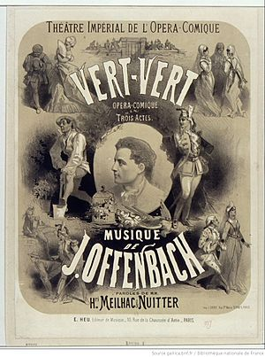 Vert-Vert - Poster by Jules Chéret for the first production of Vert-Vert at the Opéra-Comique
