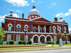 The Chambers County Courthouse Square in LaFayette.