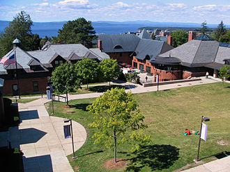 Champlain College - The center of campus, with Lake Champlain in the background.