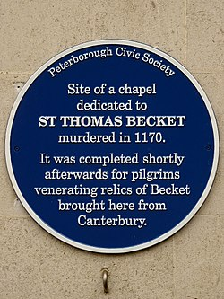 Chapel dedicated to st thomas becket (peterborough)