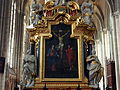 Chapelle Saint Sébastien painting inside Amiens Cathedral, pic-006.JPG