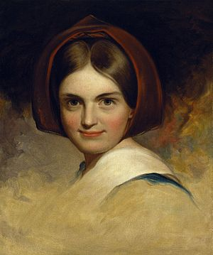 Anne Hampton Brewster - Brewsters very close friend Charlotte Cushman who her brorher prevented her from seeing. Brewster kept this painting of her by Thomas Sully and left it in her will.