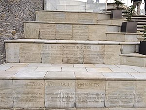 Friars Walk, Newport - Chartist steps, Friars Walk