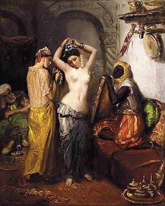 1852 in art - Image: Chasseriau Harem Image 1