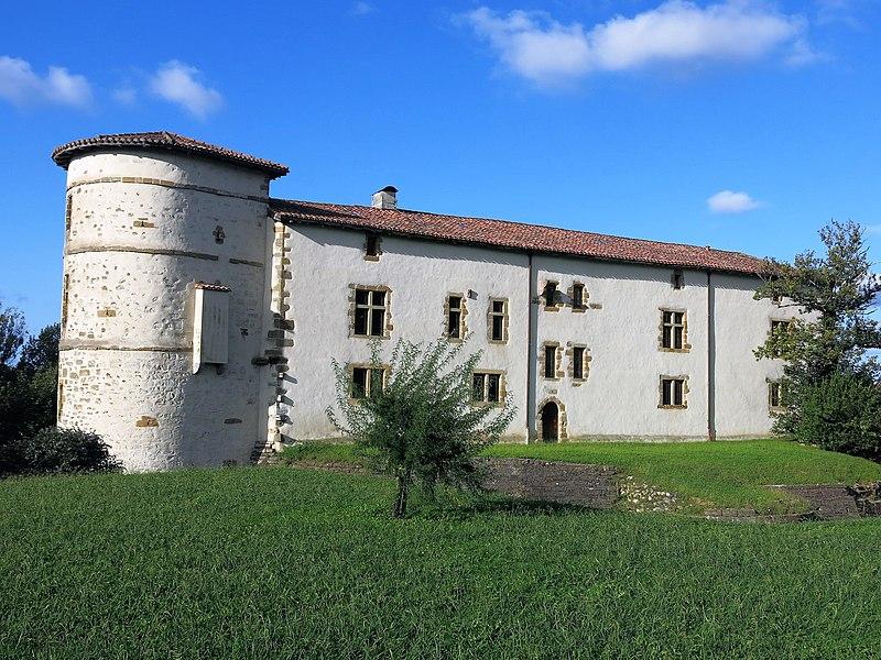 Townhall-castle of Espelette, (Pyrénées-Atlantiques, France).