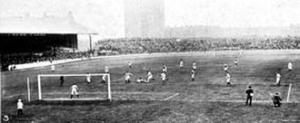 Chelsea F.C. - Chelsea vs. West Bromwich Albion at Stamford Bridge on 23 September 1905; Chelsea won 1–0.
