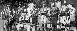 Boško Virjanac - Boško standing second from the right, 1908.